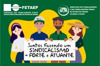 Ilustração em miniatura da áudio Spot de divulgação da Campanha de Sindicalização
