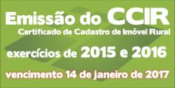 Emissão do CCIR 2016-2017