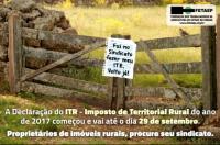 Ilustração em miniatura da áudio ITR deve ser declarado até o dia 29 de setembro
