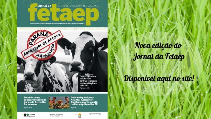 Chegou a nova edição do Jornal da Fetaep